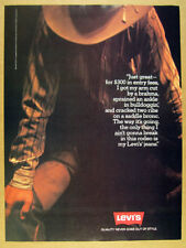 1980 Levi's Levi Jeans rodeo cowboy photo quote vintage print Ad