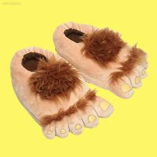 Plush Hobbit Novelty Hairy Feet Adventure Costume Make Slippers 35-40cm UK
