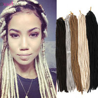 20'' Faux Locs Synthetic Twist Dreadlocks Crochet Braiding Hair Extensions Gray