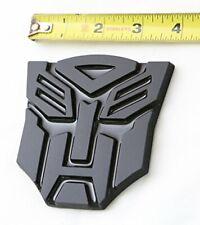 3D Transformers Autobots Optimus Prime Matte Black Matel Emblem Badge Decals Car