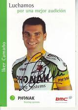 CYCLISME carte cycliste IKER CAMANO équipe PHONAK 2003 signée