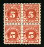 US Stamps # J73 VF Block 4 OG NH Catalog Value $170.00