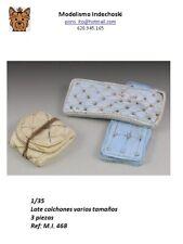 WWII 1/35 Bed Mattresses 3 piezas colchones resina accesorios diorama