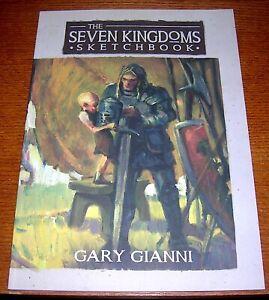 GEORGE R.R. MARTIN GARY GIANNI SIGNED SKETCH SEVEN KINGDOMS SKETCHBOOK