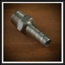 "HOSE BARB BARBED NIPPLE  1/2"" HOSE TO BREW KETTLE BALL VALVE 304 STAINLESS STEEL"