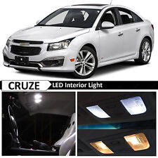 2015-2018 Chevy Cruze White Interior Map Dome LED Lights Replacement Package Kit