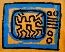 Keith Haring Untitled 1981 TV Abstract Contemporary Print Poster 16x20