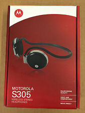 Brand New Motorola S305 Wireless Bluetooth Stereo Headphones SEALED Retail Box