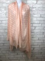 """Women's Fashion Scarf Pink Peach Ditsy Floral Open Weave Viscose Blend 77X34"""""""