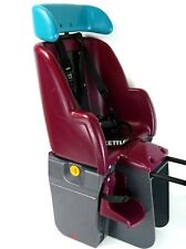 Kettler Baby Bicycle Seat Pre Owned Good Condition Maroon and Teal