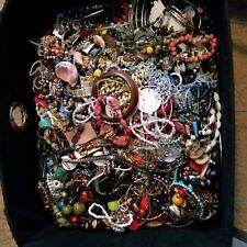 Craft Jewelry Lot 2 Pound Bead Necklace Pin Bracelet Earring Watch Broken 2 LB