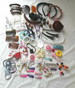 Job lot hair accessories,  clips,slides,bands,pins,adults & childrens  Q65