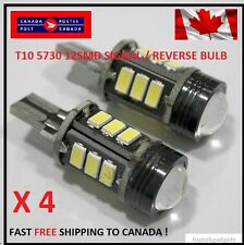 4XT15 12SMD Xenon WHITE SIGNAL/ Reverse 5730 Canbus No Error LED Car Light CREE