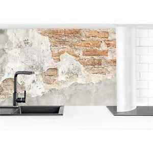 Küchenrückwand Shabby Backstein Wand Wand-Folie selbstklebend Waschtischrückwand
