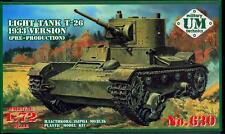 UM-MT Models 1/72 Soviet T-26 LIGHT TANK (1933 Pre-Production Version)