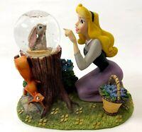 Vintage Disney CINDERELLA China Resin Bunny Rabbit Bluebird Sparkle Globe Figure