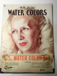 Vintage How To Do Watercolors Art Instruction Booklet The Morilla Co. #5-WS