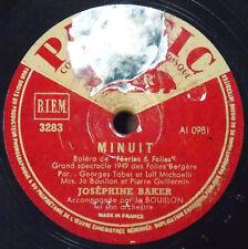JOSEPHINE BAKER Pacific 3283 Revoir Paris - Minuit 78 RPM