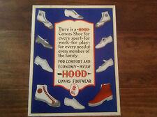 HOOD CANVAS FOOTWEAR ADVERTISING SIGN - VINTAGE