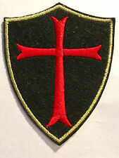 Kreuz Aufbügler Aufnäher biker Templer Tempelritter crusader cross patch Gothic