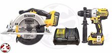 "DeWALT DCS391 DCD996 20V Li-Ion Brushless Hammer Drill 6 1/2"" Circular Saw Kit"