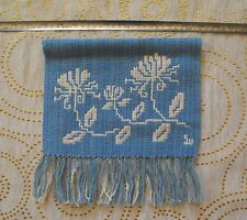 Vintage Hand Woven Cotton &Wool Wall Hanging Signed SW-Stina Wallgren
