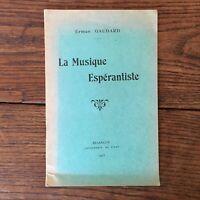 Erman Ganesh La Musica Esperantista Besançon Imp. Di Est 1913
