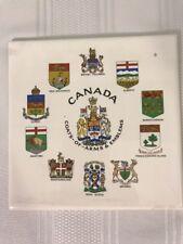 Villeroy & Boch Canada Coats of Arms & Emblems Trivet Ceramic Wall Tile 6x6 Vtg