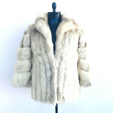 Saga Fox Puffy Fox Fur White Jacket Womens Size Medium
