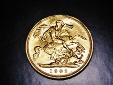 "Australian Gold Half Sovereign 1902 ""S""  Sydney Mintmark - King Edward VII"