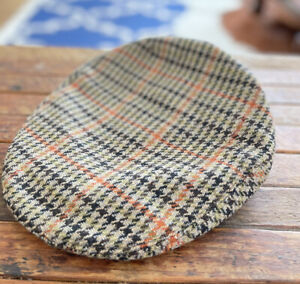 Made In England Peaky Blinders VTG 1950's Newsboy Wool Driving Cap Hat 7 1/8