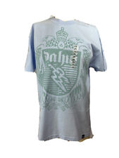 DA HUI Hawaii Hawaiian Dahui Aloha T-Shirts Light Blue Cotton L NEW Surf/Surfing