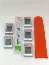 "Stihl Rollomatic E 37cm 0,325/"" 1,6mm 3003 000 6811 3x Stihl Vollmeißelketten"