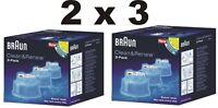 Braun CCR 6 Reinigungskartuschen 2x3  Pulsonic,Series9, Series7  Clean&Charge
