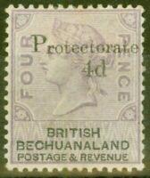 Bechuanaland 1888 4d on 4d Lilac & Black SG44 Fine Mtd Mint