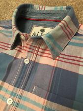 Hermosa cara gorda Rosa Pastel Bebé Azul Camisa de fin de semana cheque S pequeño costo £ 65