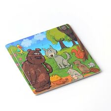 20pcs Cartoon Animals Puzzle Jigsaw Toddler Kids Early Learning Toys Educational