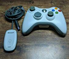 Microsoft Xbox 360 wireless receiver for PC windows Model 1086 w/ Controller