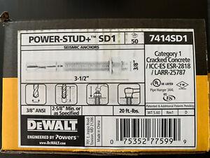 "Dewalt 7414SD1 Powers 3/8"" x 3-1/2"" Power-Stud+® SD1 Expansion Anchor Qty.50"