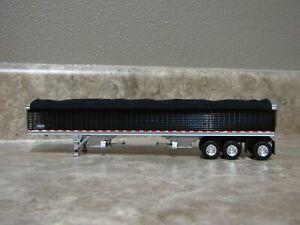 DCP 1/64 Wilson Black Tarp Black Tri-axle Hopper Bottom Grain Trailer Farm Toy