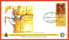 2000-Fdc 1°jour-Vatican-Voyage du Pape-Jean-Paul II-Joseph-Tel-Aviv-Yafo
