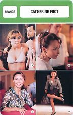 FICHE CINEMA FRANCE Catherine Frot  Actrice Actress