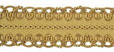 "HOULÈS Braid 53 mm (2""), Gold, Valmont 32624-9120 Luxury Trimming"