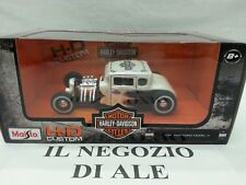 MAISTO MODELLINO AUTO CUSTOM HD 1923 FORD MODEL A, COLORE BIANCO,SCALA 1:24