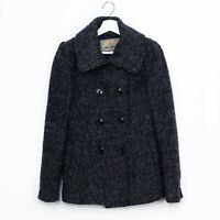Steve Madden Women's Wool Blend Double Breasted Peacoat Gray Lined Small S