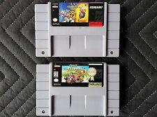 Super Nintendo (SNES) 2 Game Lot - Biker Mice From Mars & Super Mario Kart