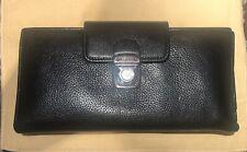 Authentic Ferragamo Women's Wallet Black Soft Leather Purse, excellent condition