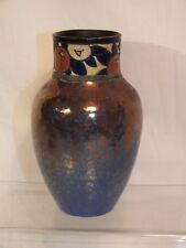 Ancien vase art déco - faïence lustrée et émaillée 1930