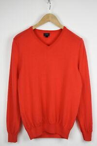 J.CREW 93735 Men's SMALL 100% Merino Wool Bright Neon Pullover Sweater 33732_GS