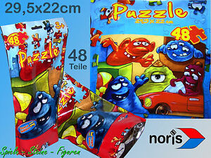 Noris Puzzle 29, 5x22cm Travel Edition 48 Pieces IN The Bag, Travel Game